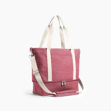 Side - The Catalina Deluxe Tote - Washed Canvas - Rose - Tote - Lo & Sons