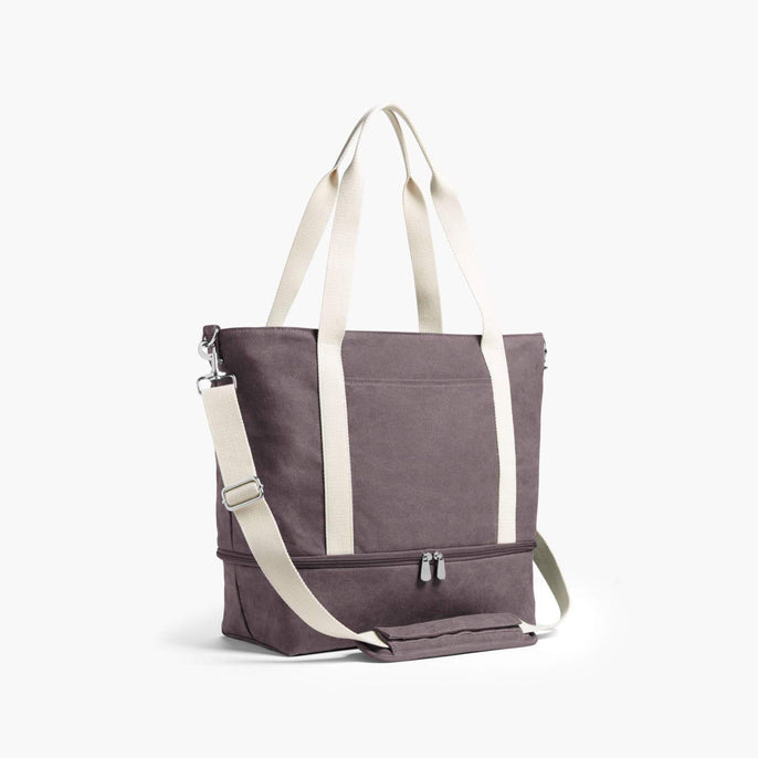 Side - The Catalina Deluxe Tote - Washed Canvas - Thistle - Tote - Lo & Sons