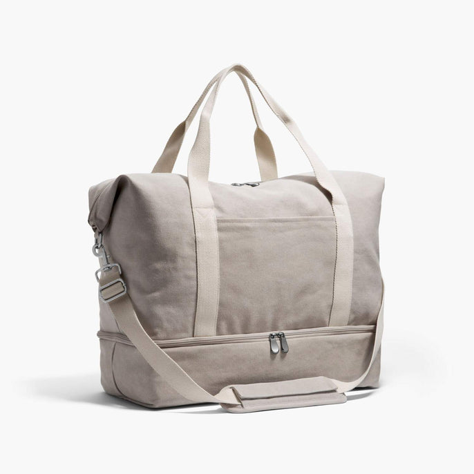 Side - The Catalina Deluxe - Washed Canvas - Dove Grey - Weekender - Lo & Sons