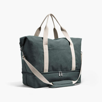 Side - The Catalina Deluxe - Washed Canvas - Forest Green - Weekender - Lo & Sons