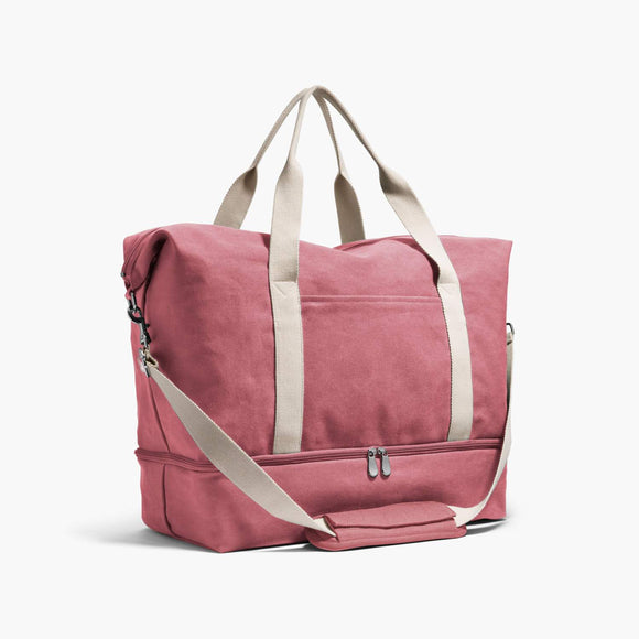Side - The Catalina Deluxe - Washed Canvas - Rose - Weekender - Lo & Sons