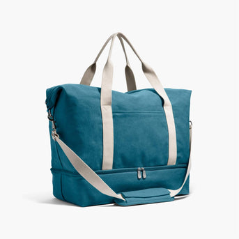 Side - The Catalina Deluxe - Washed Canvas - Teal Blue - Weekender - Lo & Sons