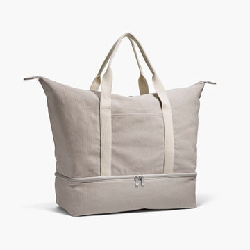 Side - The Catalina - Washed Canvas - Dove Grey - Weekender - Lo & Sons