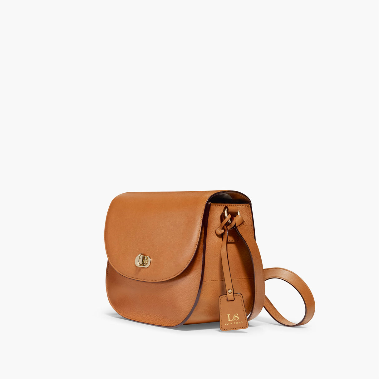 Side - The Claremont - Full Grain Leather - Sienna - Crossbody - Lo & Sons