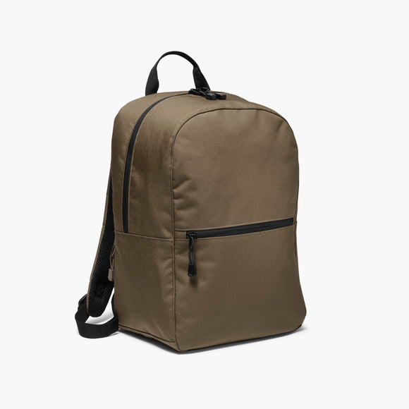 Side - The Hanover - 600D Recycled Poly - Army Green - Backpack - Lo & Sons