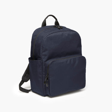 Side - The Hanover Deluxe - 600D Recycled Poly - Navy - Backpack - Lo & Sons