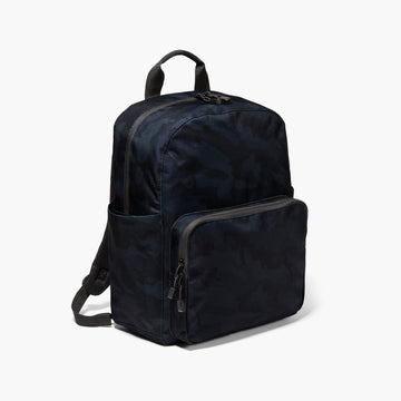 Side - The Hanover Deluxe - 600D Recycled Poly - Navy Camo - Backpack - Lo & Sons