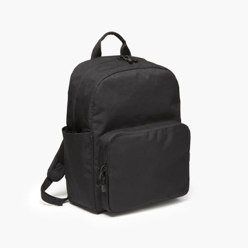 Side - The Hanover Deluxe - 600D Recycled Poly - Onyx - Backpack - Lo & Sons