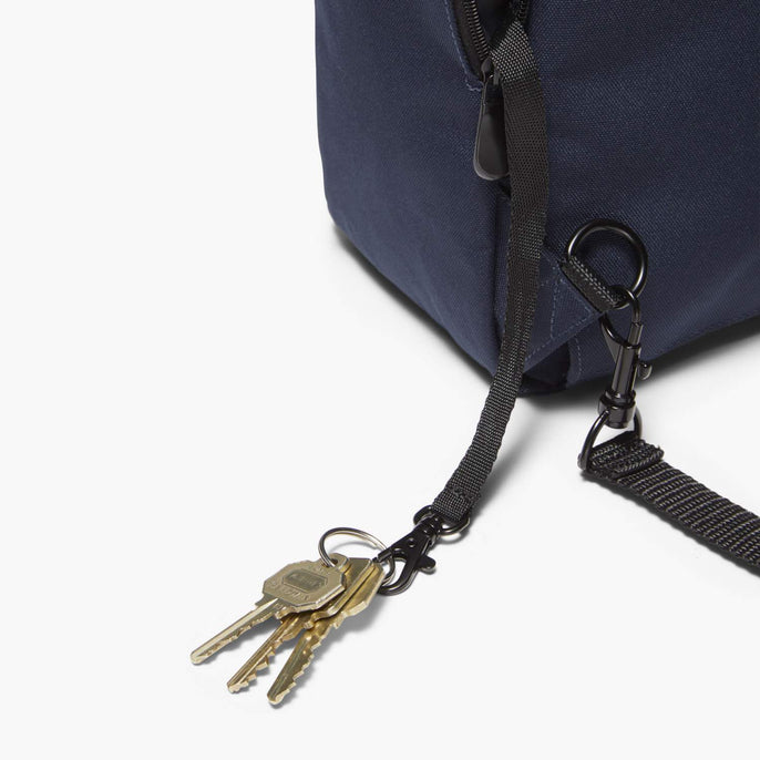 Side Key Leash - Edgemont - 600D Recycled Poly - Navy - Backpack - Lo & Sons