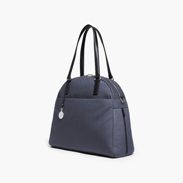 Side - The O.G. and O.M.G. - Cotton Poly Blend - Heather Slate Blue / Silver / Grey - Shoulder Bag - Lo & Sons