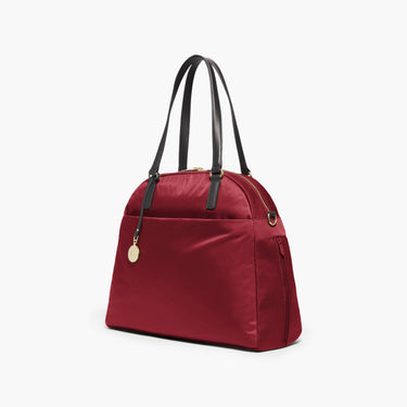 Side - The O.G. and O.M.G. - Nylon - Burgundy / Gold / Camel - Shoulder Bag - Lo & Sons