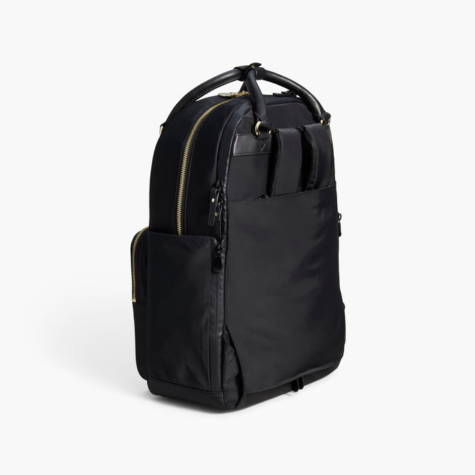 Side Tote - The Rowledge - Nylon - Black / Gold / Lavender - Backpack - Lo & Sons