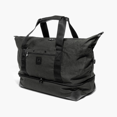 Side Unsnapped - The Rhodes - Waxed Twill - Charcoal - Weekender - Lo & Sons