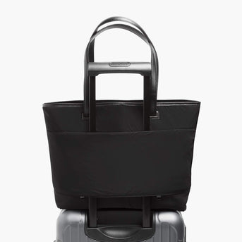 Soft Touch Shell - The Seville Tote - Saffiano Leather - Black / Gold / Grey - Tote - Lo & Sons