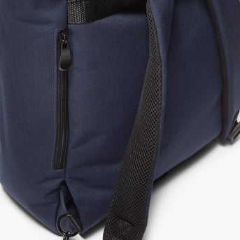 Strap Detail - Edgemont - 600D Recycled Poly - Navy - Backpack - Lo & Sons