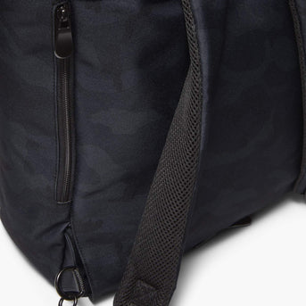 Strap Detail - Edgemont - 600D Recycled Poly - Navy Camo - Backpack - Lo & Sons