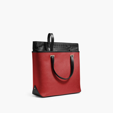 Swappable Shell - The Seville Tote - Saffiano Leather - Red / Gold / Grey - Tote - Lo & Sons