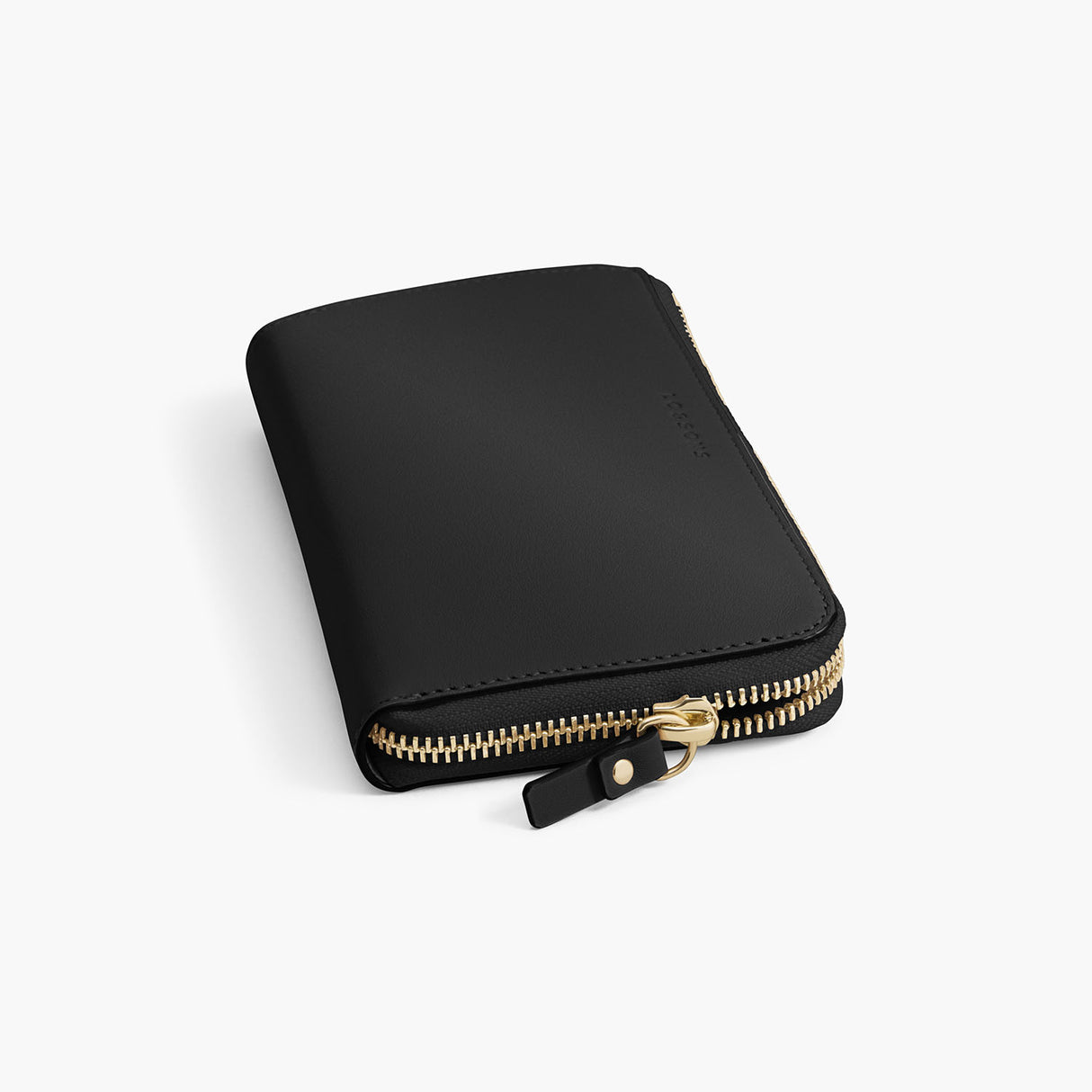 Zipper Detail - The Leather Wallet - Nappa Leather - Black / Gold / Grey - Small Accessory - Lo & Sons