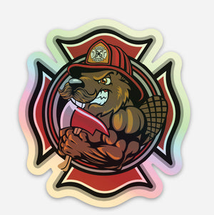 BUCKEY THE BEAVER HOLOGRAPHIC DECAL