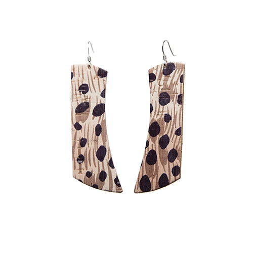 African Cheetah Italia Leather Earrings