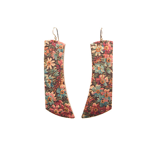 Fall Floral Italia Leather Earrings