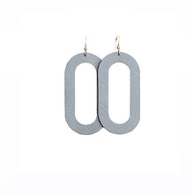 Load image into Gallery viewer, Pewter Porta Leather Earrings