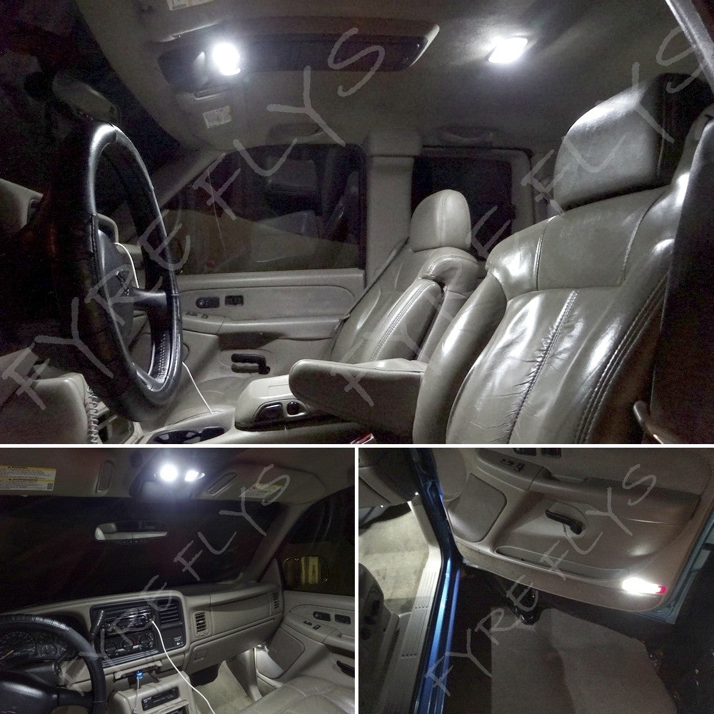 14 white led interior lights package 2007 2013 chevy - Led interior lights for 2013 chevy silverado ...