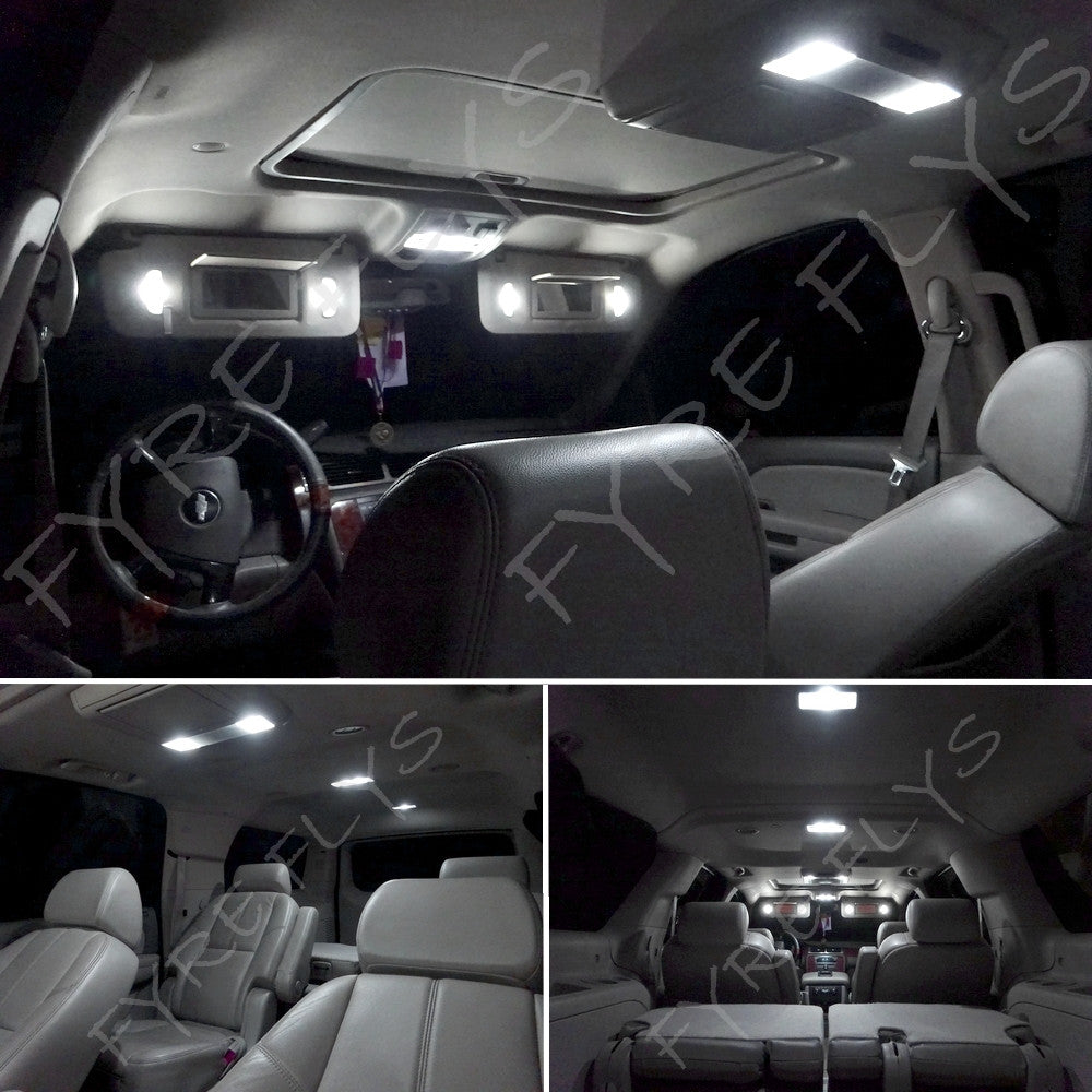 12x white led light interior package 1999 2006 chevy - Led interior lights for 2013 chevy silverado ...