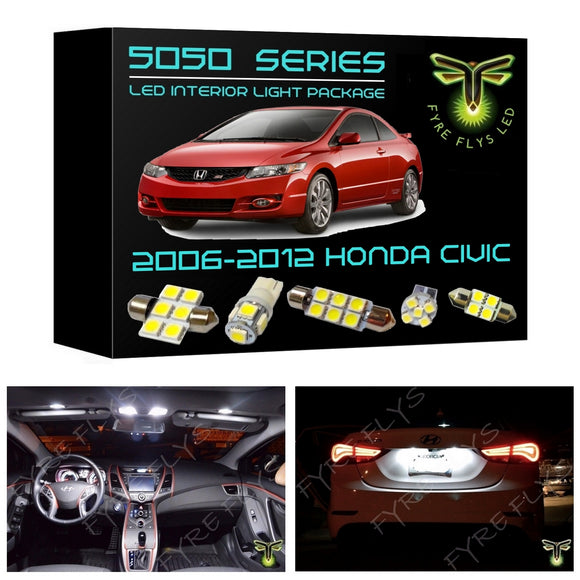 2006-2012 Honda Civic LED interior light kit 5050 Series