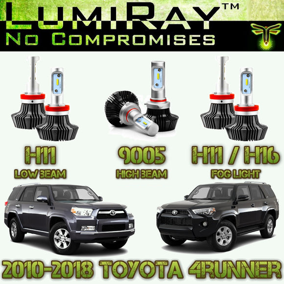 LumiRay™ LED Headlight HI/LO and Fog Light Package for 2010-2019 Toyota 4Runner