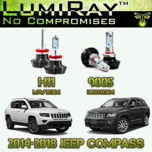 LumiRay™ LED Headlight HI/LO Package for 2014-2018 Jeep Compass