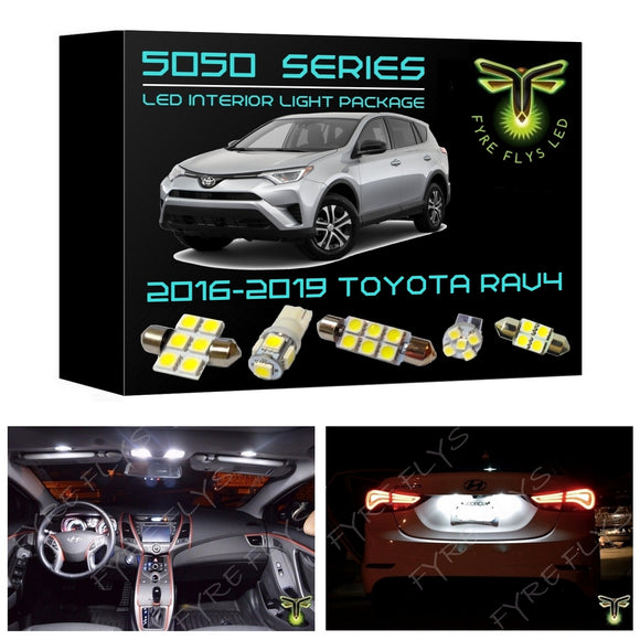 2016-2019 Toyota RAV4 LED interior light kit 5050 Series