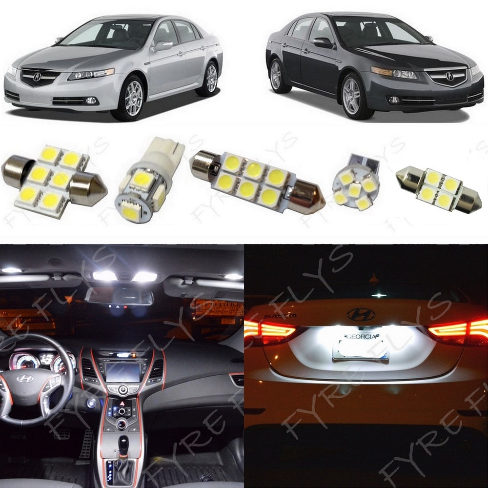 Complete led interior light kit for 2004 2008 acura tl fyre flys 2004 acura tl led interior lights