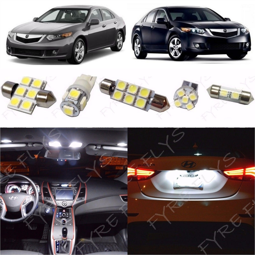 Complete Led Interior Light Kit For 2009 2014 Acura Tsx