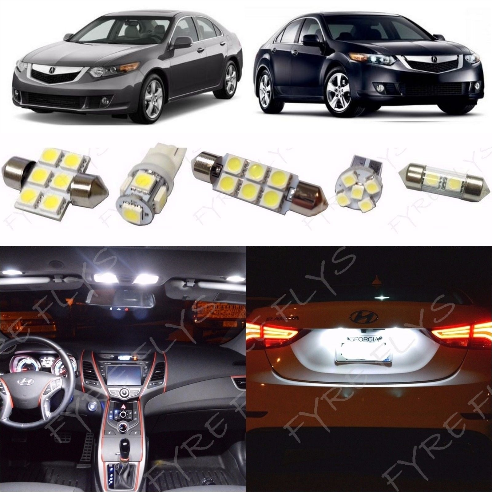 Complete LED Interior Light Kit For 2009-2014 Acura TSX