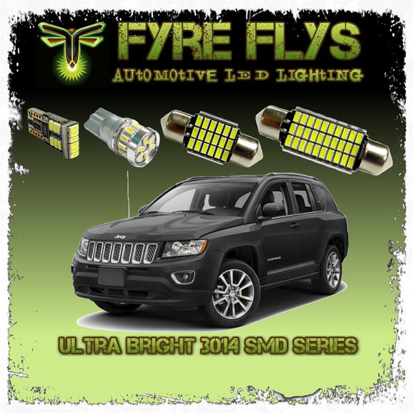 2014-2018 Jeep Compass LED interior light kit 3014 Series