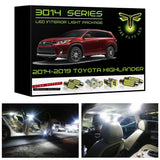 2014-2019 Toyota Highlander LED interior light kit 3014 Series