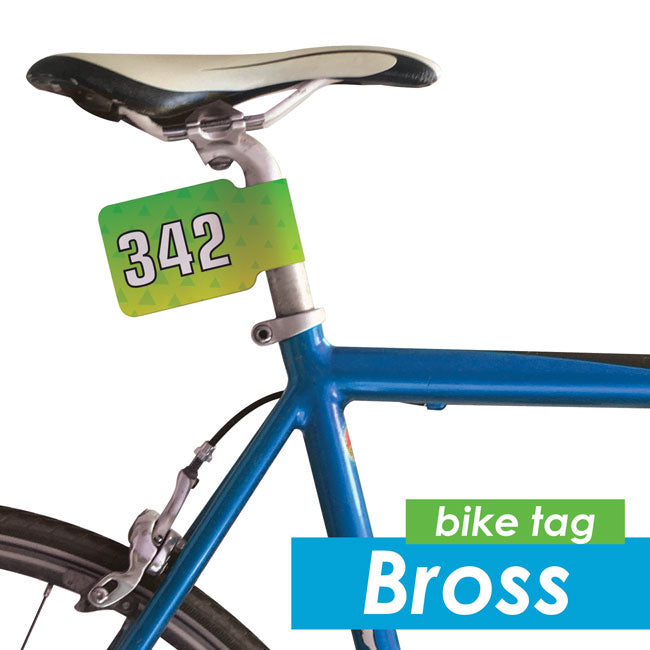Bross Adhesive Bike Numbers