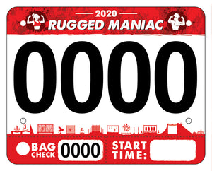 Rugged Races Bib Template
