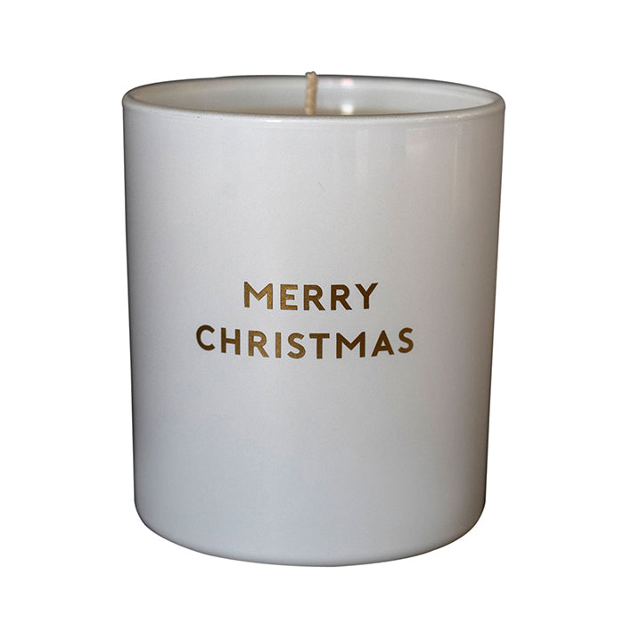 MERRY CHRISTMAS - WHITE JAR