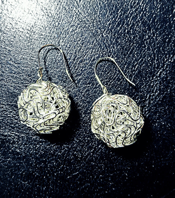 Beautiful Sterling silver ball Earings