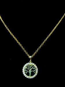 9ct tree of life with chain