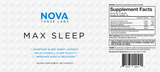 Nova 3 Labs - Max Sleep - Nutritional Facts