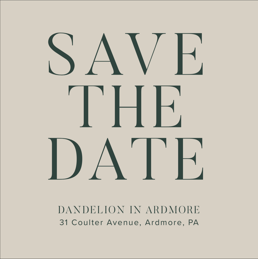 Save the Date for Ardmore Events