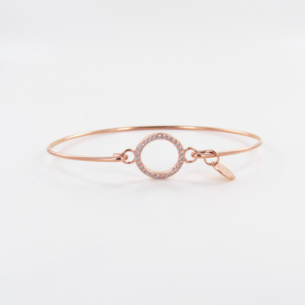 Rose Gold Pavé Circle Bracelet