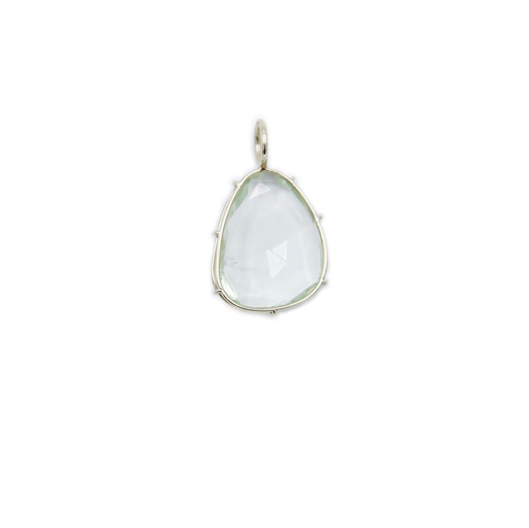 HEATHER B. MOORE 14K WHITE GOLD HARRIET STONE GREEN AMETHYST
