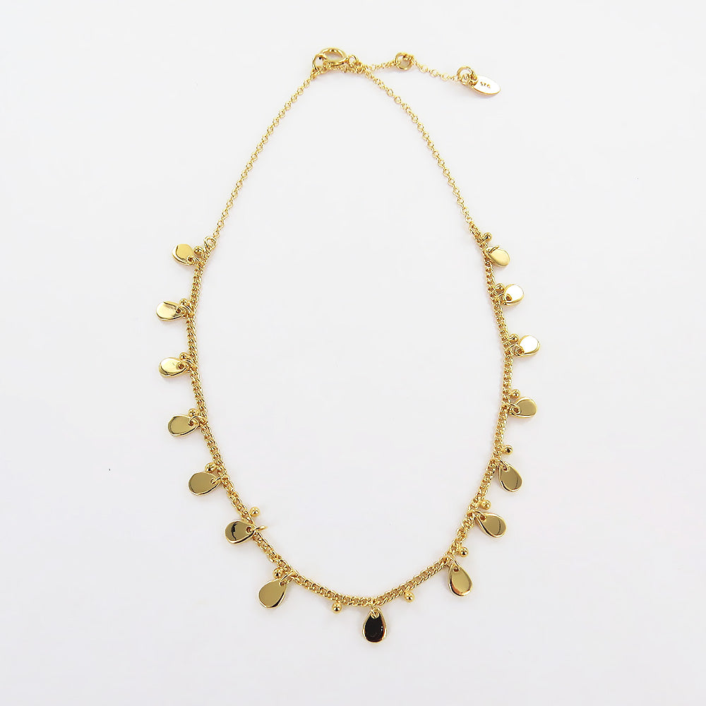 TEARDROP GOLD CHARM NECKLACE