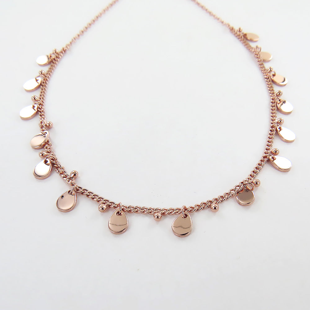 TEARDROP ROSE GOLD CHARM NECKLACE
