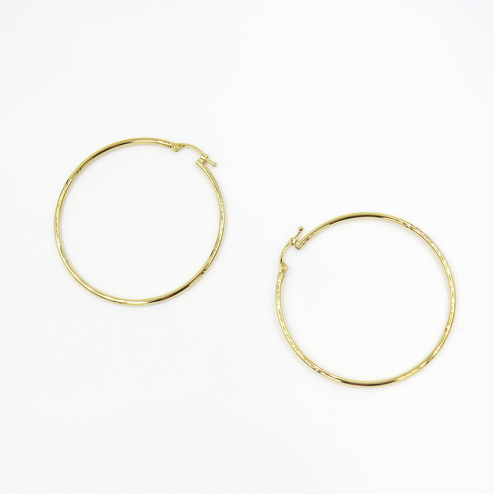 LARGE THIN GOLD HOOPS