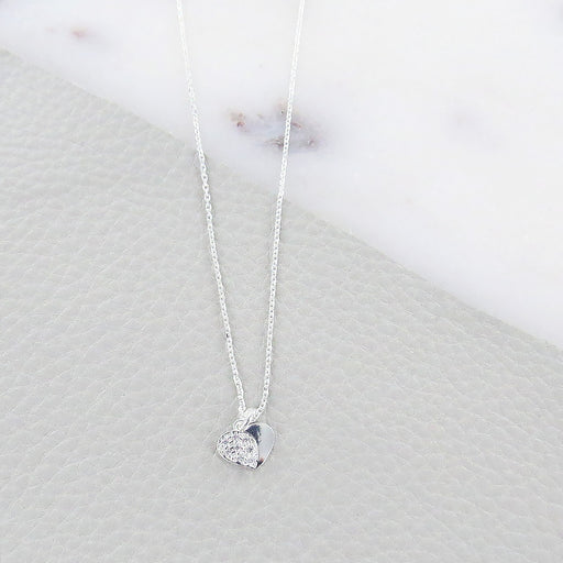 HEART NECKLACE WITH SPARKLE
